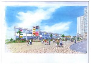 袖ヶ浦駅モールイメージ図